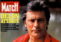 Alain Delon en couverture de Paris Match