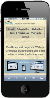 Site Web sur iPhone